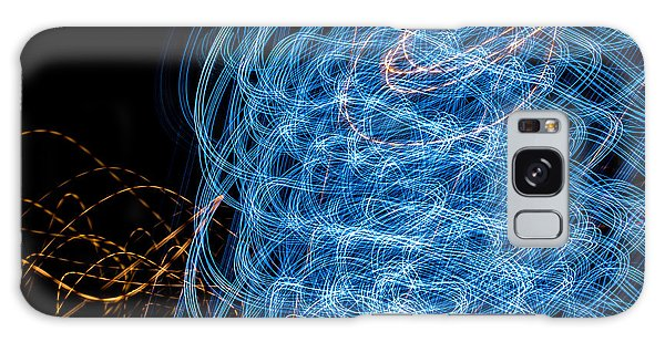 Ufa Neon Abstract Light Painting Sodium #7 Galaxy Case