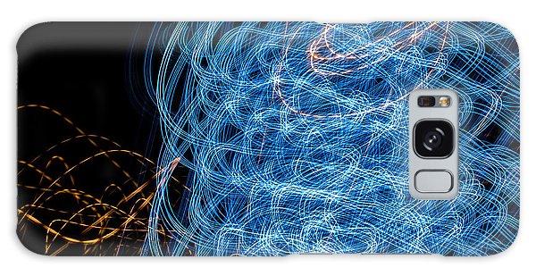 Ufa Neon Abstract Light Painting Sodium #7 Galaxy Case by John Williams