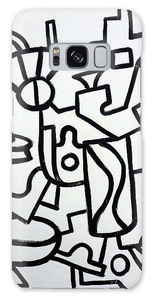 Ufo Creative Intelligence By Robert R Print Original Abstract Painting Modern Art Galaxy Case