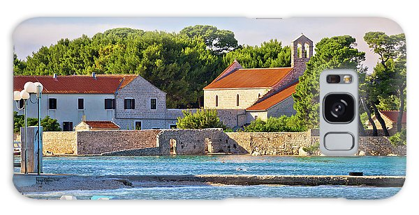 Ugljan Island Village Old Church And Beach View Galaxy Case