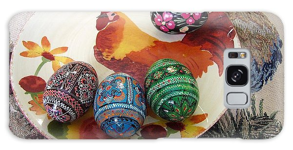 Ukrainian Pysanka Galaxy Case by Jim Sauchyn