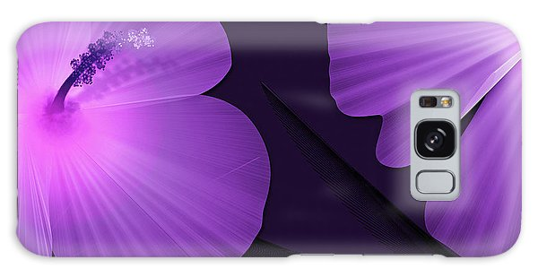 Ultraviolet Hibiscus Tropical Nature Print  Galaxy Case