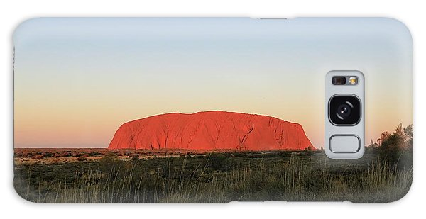 Uluru At Sunset Galaxy Case