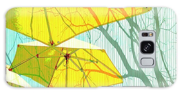 Umbrellas Yellow Galaxy Case by Deborah Nakano