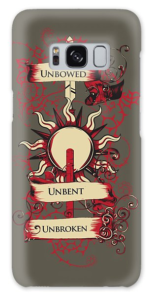 Unbowed Unbent Unbroken Galaxy Case
