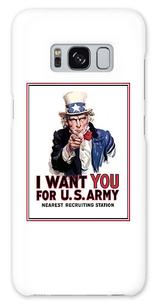 Uncle Sam -- I Want You Galaxy Case