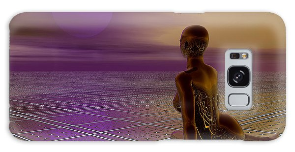 Galaxy Case featuring the digital art Under A Purple Moon by Sandra Bauser Digital Art