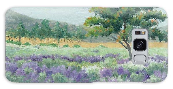 Under Blue Skies In Lavender Fields Galaxy Case