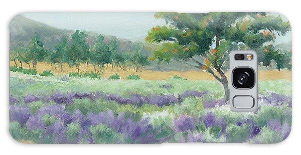 Under Blue Skies In Lavender Fields Galaxy Case by Sandy Fisher