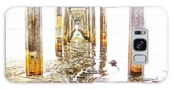 Under Scripps Pier Galaxy Case by Ruth Jolly