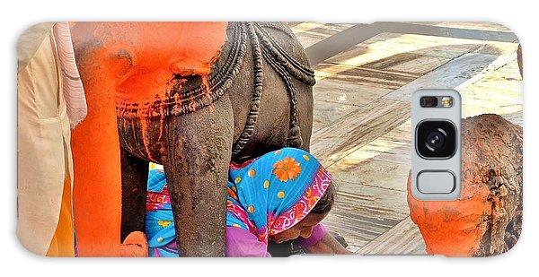 Under The Elephant - Narmada Temple At Arkantak India Galaxy Case