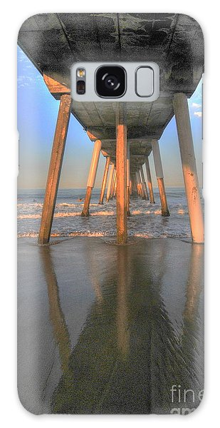 Under The Hermosa Pier Galaxy Case