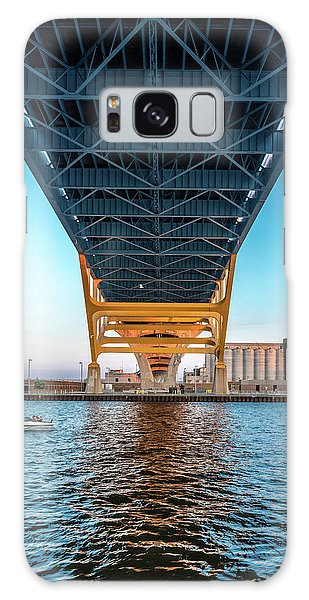 Galaxy Case featuring the photograph Under The Hoan by Randy Scherkenbach
