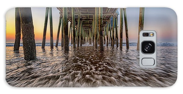 Galaxy Case featuring the photograph Under The Pier At Old Orchard Beach by Rick Berk