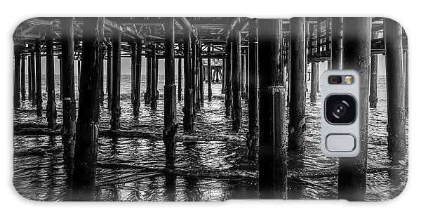 Under The Pier - Black And White Galaxy Case