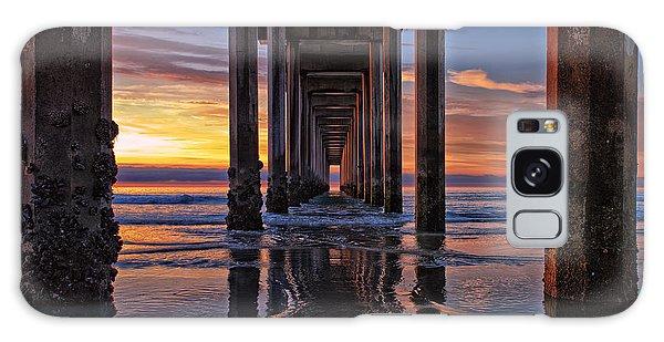 Under The Scripps Pier Galaxy Case by Sam Antonio Photography