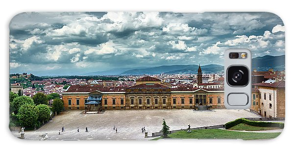 The Meridian Palace And Cityscape In Florence, Italy Galaxy Case