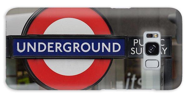 Underground Sign London Galaxy Case