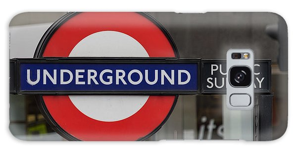 Underground Sign London Galaxy Case