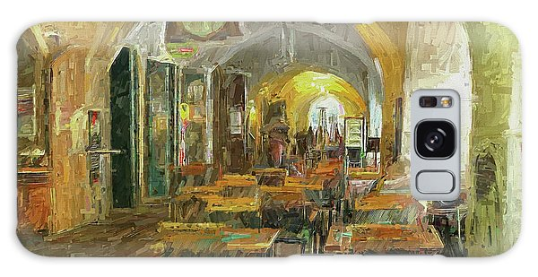 Underneath The Arches - Street Cafe, Prague Galaxy Case