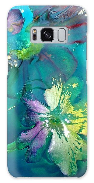 Underwater Flower Abstraction 3 Galaxy Case