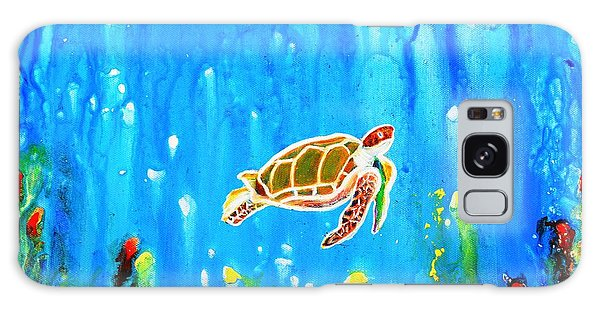 Underwater Magic 5-happy Turtle Galaxy Case