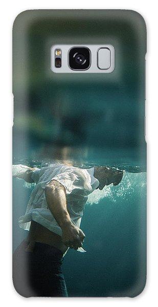 Underwater Man Galaxy Case