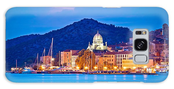 Unesco Town Of Sibenik Blue Hour View Galaxy Case by Brch Photography
