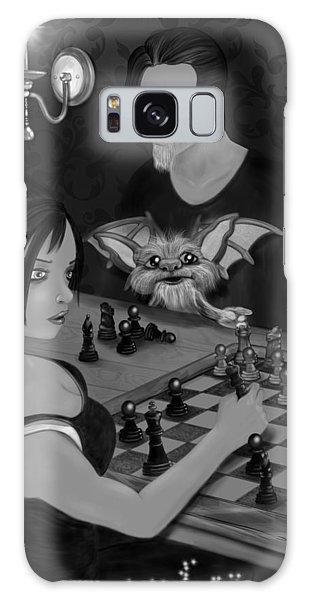 Unexpected Company - Black And White Fantasy Art Galaxy Case