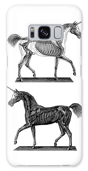 White Horse Galaxy Case - Unicorn Anatomy by Madame Memento