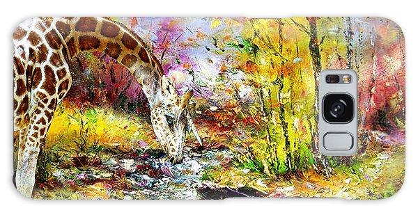 Unicorn Giraffe At The River Galaxy Case