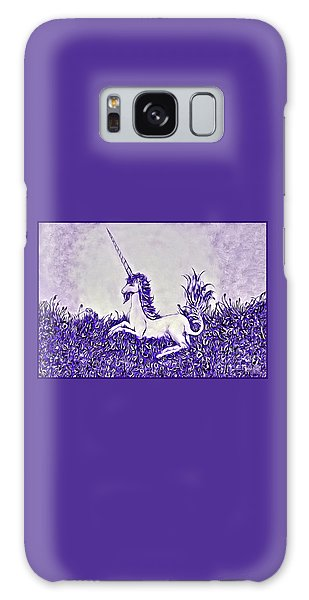 Unicorn In Purple Galaxy Case