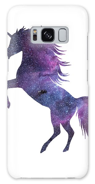 Unicorn In Space-transparent Background Galaxy Case