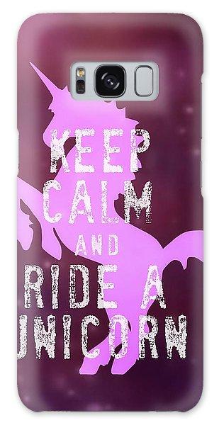 Unicorn Rides Galaxy Case