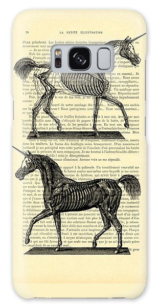 Unicorns Anatomy Galaxy Case