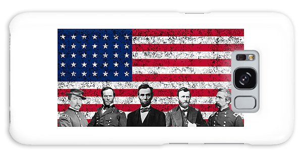 Abraham Lincoln Galaxy S8 Case - Union Heroes And The American Flag by War Is Hell Store
