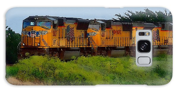 Galaxy Case featuring the digital art Union Pacific Line by Shelli Fitzpatrick