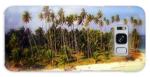 Unique Symbolic Island Art Photography Icon Zanzibar Sands Beaches Tourist Destination. Galaxy Case