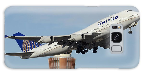 United Boeing 747-422 N128ua Phoenix Sky Harbor January 2 2015 Galaxy Case