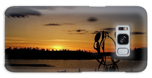 United In Celebration Sculpture At Sunset 6 Galaxy Case by John McArthur