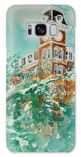 Ice On Old Main Galaxy Case by Robin Miller-Bookhout