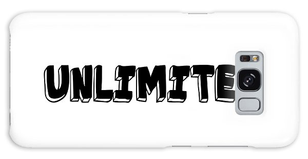 Unlimited - Art Print Poster, One Word Quotes  Galaxy Case