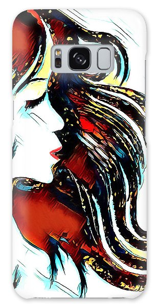Galaxy Case featuring the digital art Unrestricted-abstract by Pennie McCracken
