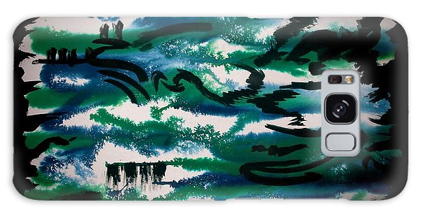 Galaxy Case featuring the painting Black River by Tamal Sen Sharma