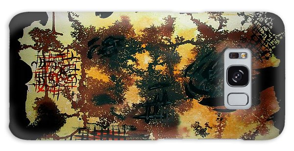 Galaxy Case featuring the painting Dry Forest by Tamal Sen Sharma
