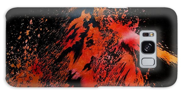 Galaxy Case featuring the painting Volcano by Tamal Sen Sharma