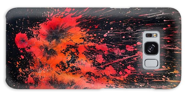 Galaxy Case featuring the painting Floral Vs Fire by Tamal Sen Sharma