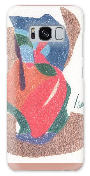 Galaxy Case featuring the drawing Untitled Abstract by Rod Ismay