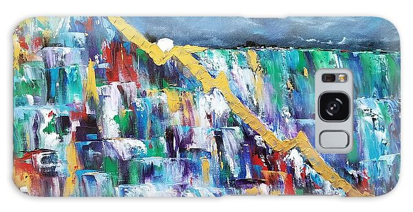 Galaxy Case featuring the painting Untitled by Judith Rhue