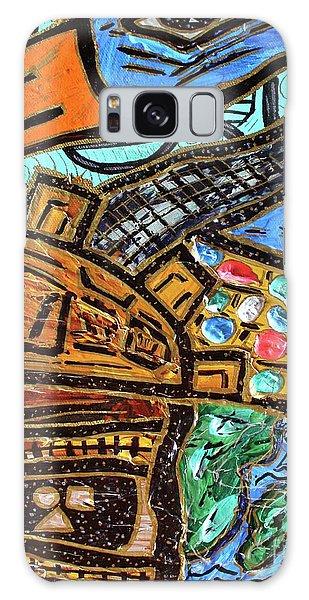 Untitled Olmec And Tehuti Galaxy Case